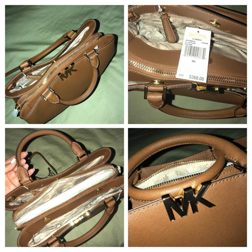 987a6e870310 Michael Kors Florence Large Light Brown Leather Satchel - Tradesy