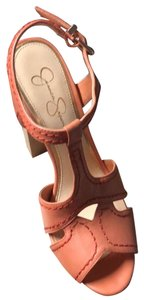 Jessica Simpson light orange Mules