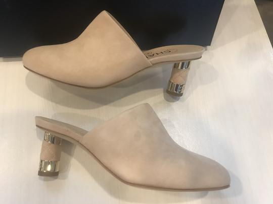 Chanel Heels Slides Quilted Suede Beige Mules Image 2
