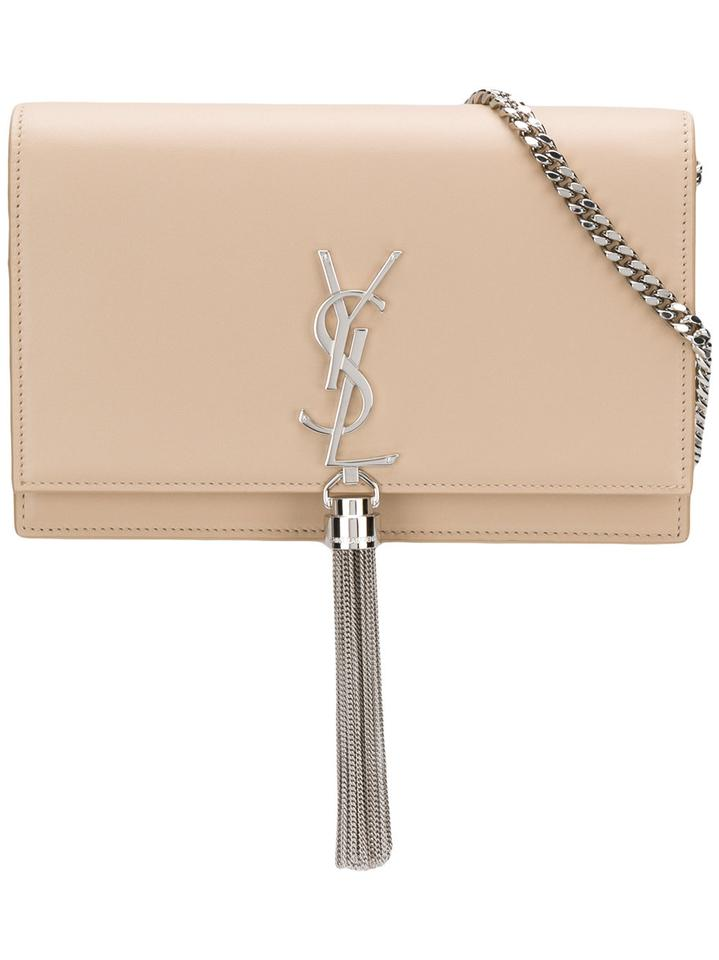 f2c08dcfe5 Saint Laurent Monogram Classic Ysl Small Kate Tassel In Poudre Nude Leather  Cross Body Bag 16% off retail