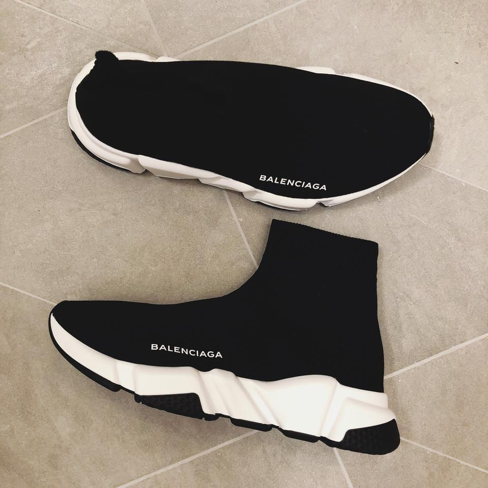 Sneakers Black Stretch Women's Sneakers knit High Trainer Balenciaga Speed top zT6dx6qw