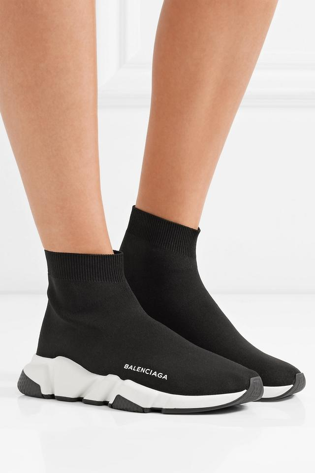 Black Speed Sneakers Stretch Balenciaga Women's High Sneakers top knit Trainer FdaAqwAE