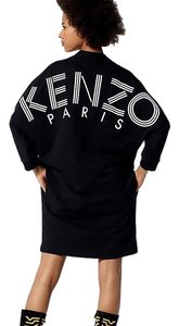 Kenzo short dress Sweatshirt Paris Logo Logo Sweat Black Sweatshi on Tradesy