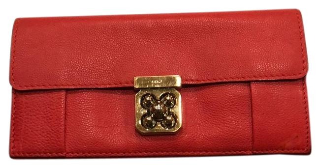 Item - Coral Leather Wallet