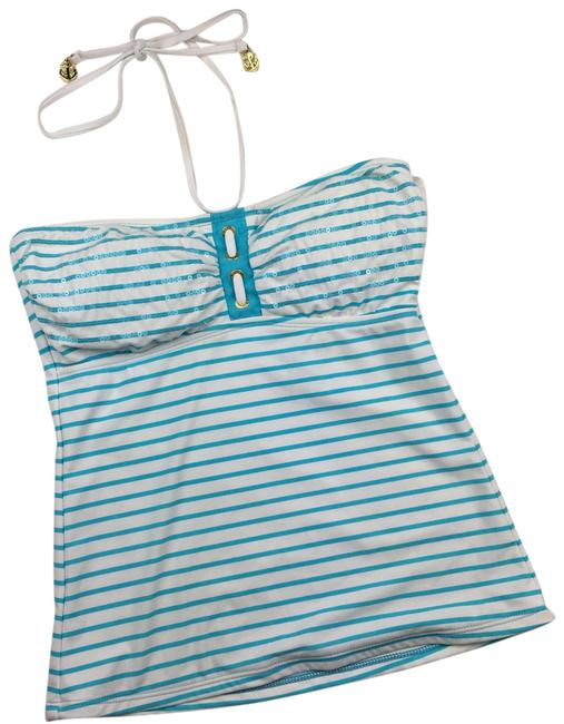 Item - Blue White Top-sider Striped Top Tankini Size 6 (S)
