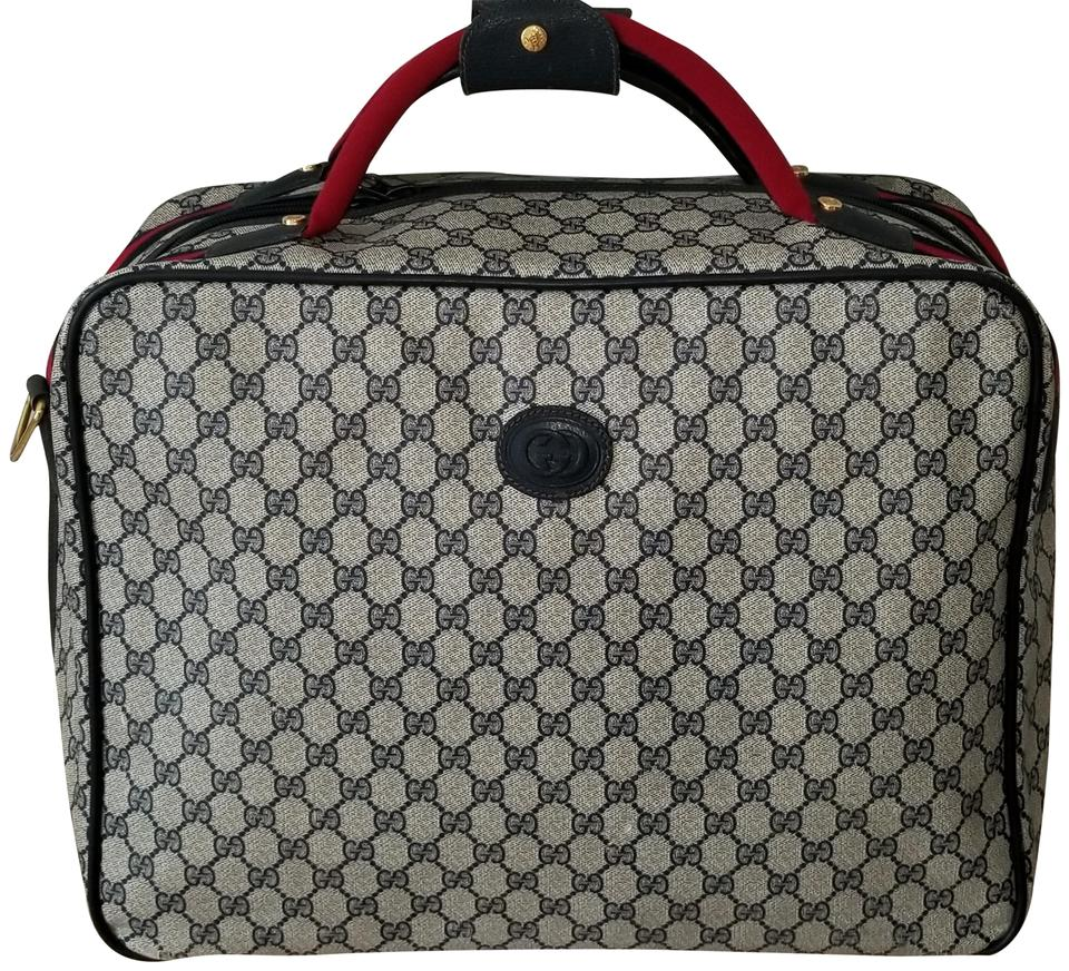 d6aeb0534d8b Gucci Boston Carry-on/Overnight Blue Monogram Canvas and Leather ...