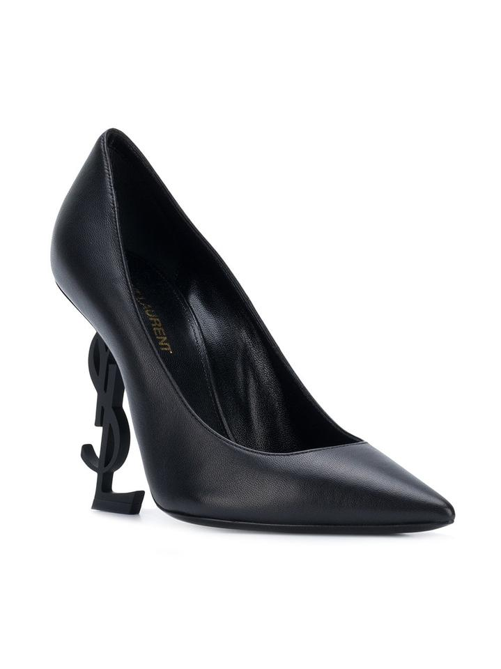 b7c11df756 ... 5 Ysl Laurent Saint Monogramme Pumps 36 Opium Black Leather qgIqBnwSx  ...