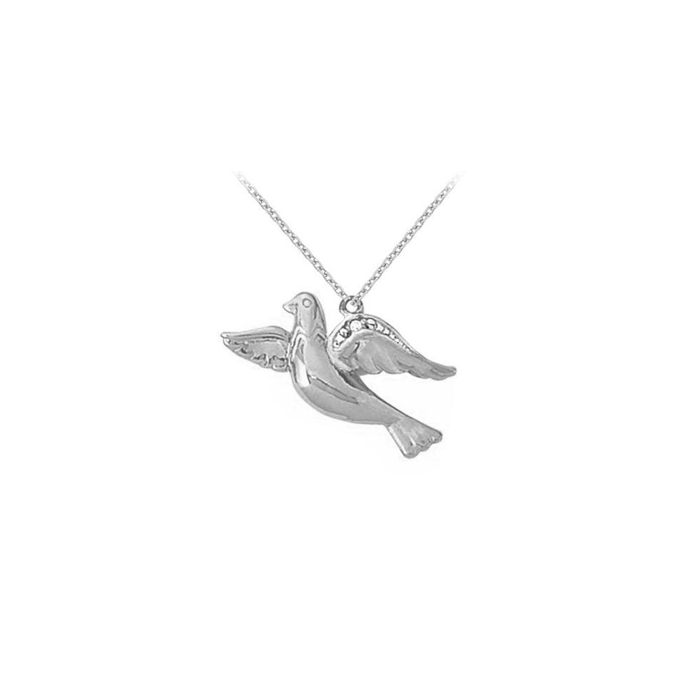 White april birthstone cubic zirconia dove pendant in 925 sterling designerbyveronica april birthstone cubic zirconia dove pendant in 925 sterling silver aloadofball Choice Image