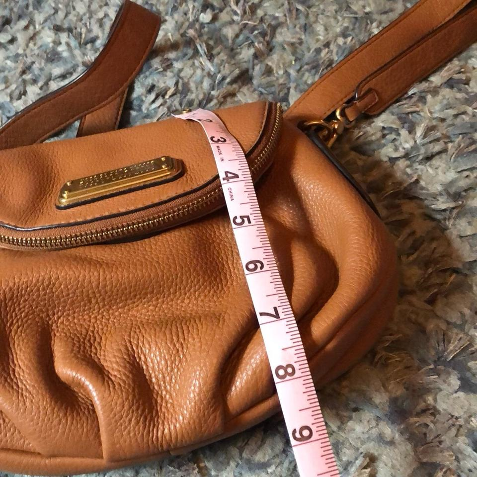 Marc Body Bag Camel Satchel Cross Leather Jacobs rZqwCr