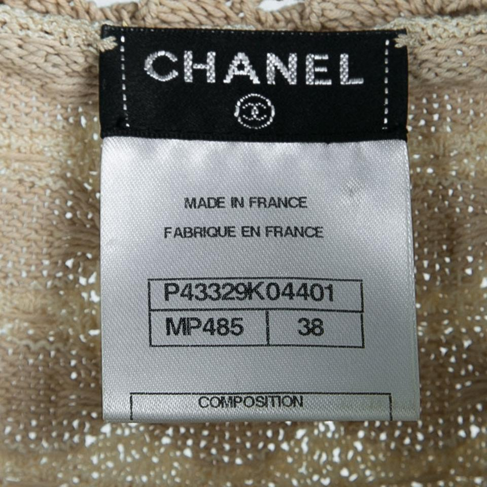 8d4693caf20 Chanel Navy Blue and Beige Knit Dress and Cardigan Set M Image 8. 123456789