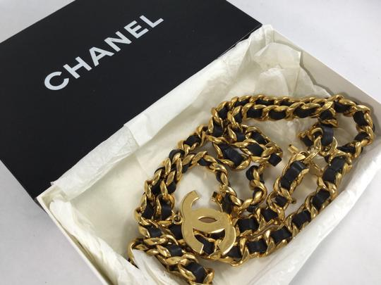 Chanel Leather Interlaced Chain CC