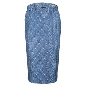 Preen by Thornton Bregazzi Fitted Skirt Blue