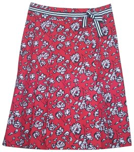 Sara Campbell Skirt Red/White