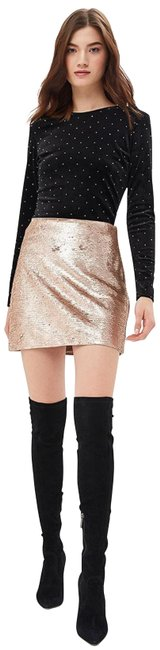 Item - Gold Neiman Marcus Exclusive Silk Butterfly Prints Skirt Size 14 (L, 34)