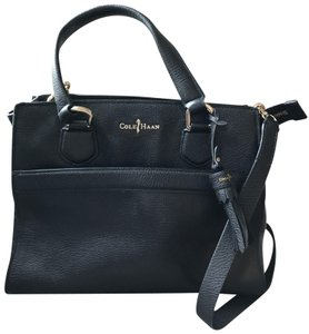 Cole Haan Leather 2 In Chic Chic Satchel in Black