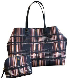 Tory Burch To School Spring Large Tote in Philly Plaid