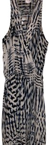 Parker short dress White background with blue and black print on Tradesy