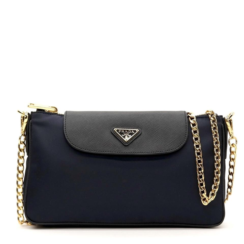3dd8787153e95c Prada Tessuto Saffiano Blue Nylon Cross Body Bag - Tradesy