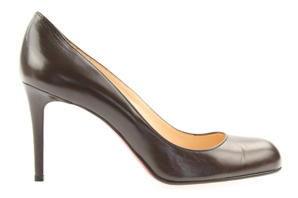 Christian Louboutin Brown Brown Louboutin Simple 85 Pumps 268825