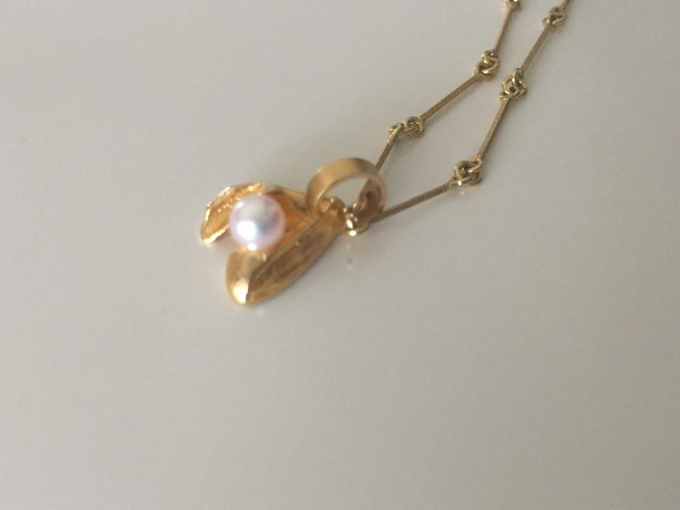 14kt yellow gold tundra flower pendant with chain necklace tradesy 123456 mightylinksfo