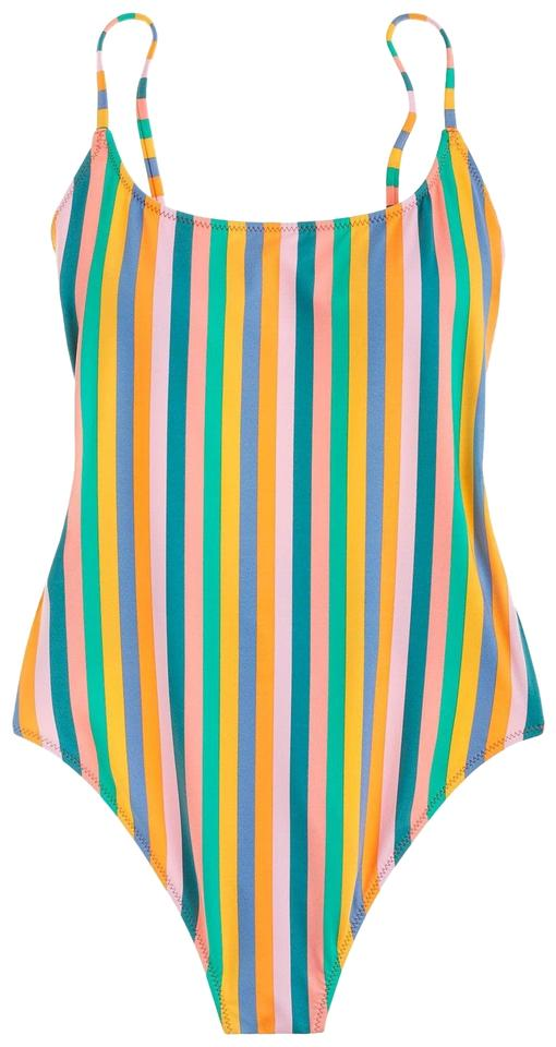 cb373f54a1a66 J.Crew Multicolor Playa Printed Newport Super-scoopback Swimsuit One-piece  Bathing Suit