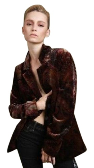 Item - Multicolor Stained Glass Velvet In Paisley Snake and Animal S Blazer Size 4 (S)