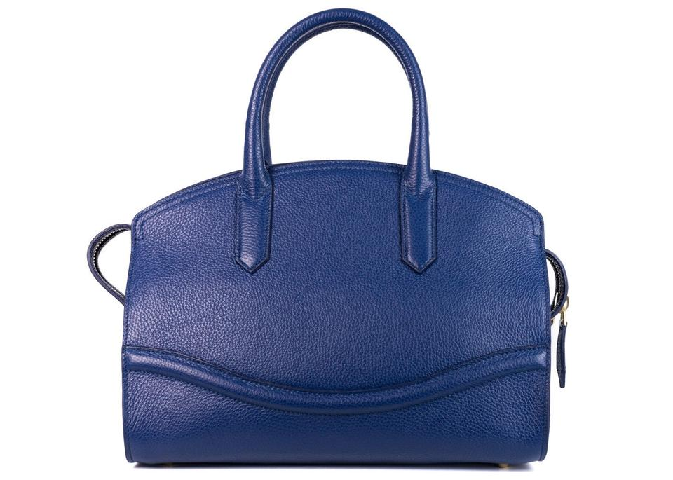 Bag Leather Blue Grained Roberto Large Shoulder Tote Boston Cavalli gqCY8nwBU