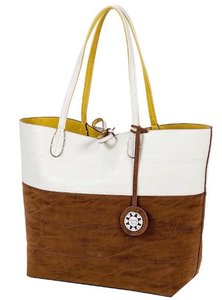 Sydney Love Tote in Brown/Lime/White