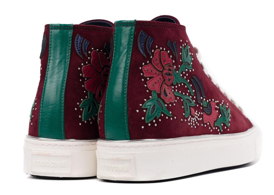 High Embellished Sneakers Cavalli Sneakers Roberto Top Red Floral SqnIBBpf