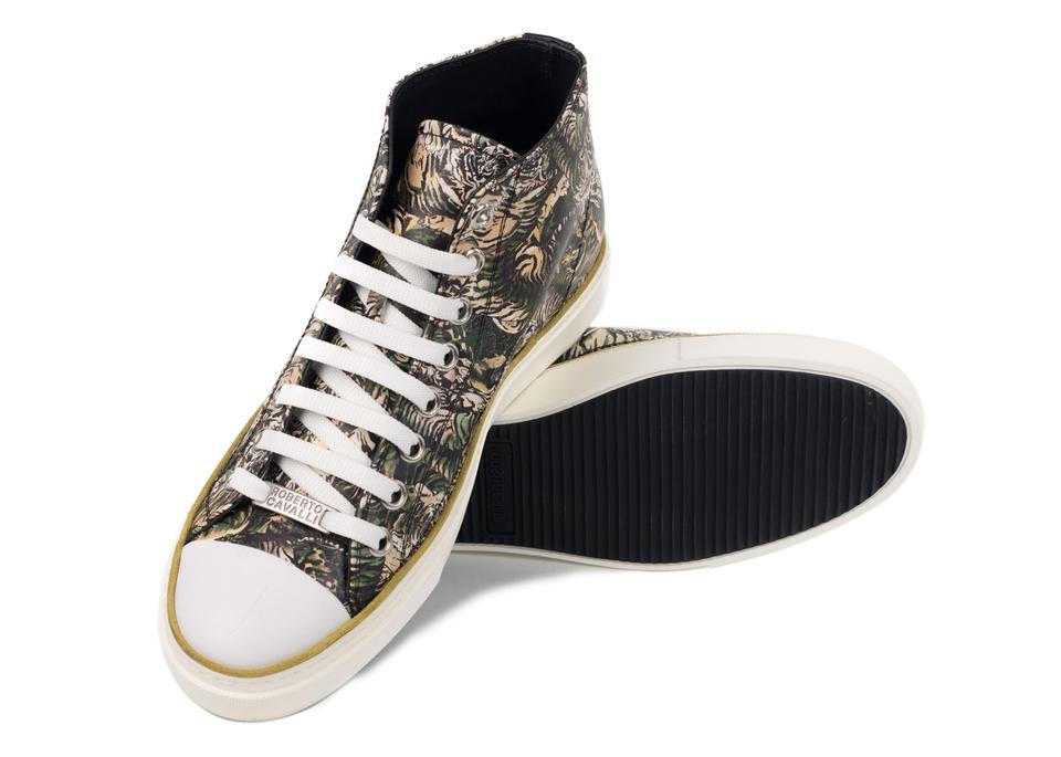 Tiger Sneakers Brown Top Mike Roberto High Sneakers Cavalli 7aUSxP