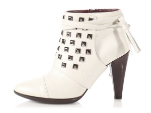 Chanel Ch.p0702.04 Spats Ankle Reduced Price Off White Boots
