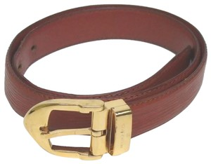 Louis Vuitton Louis Vuitton Epi Leather Belt in Kenyan Fawn