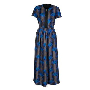 Multicolor Maxi Dress by Christopher Kane Floral Silk Detail Maxi