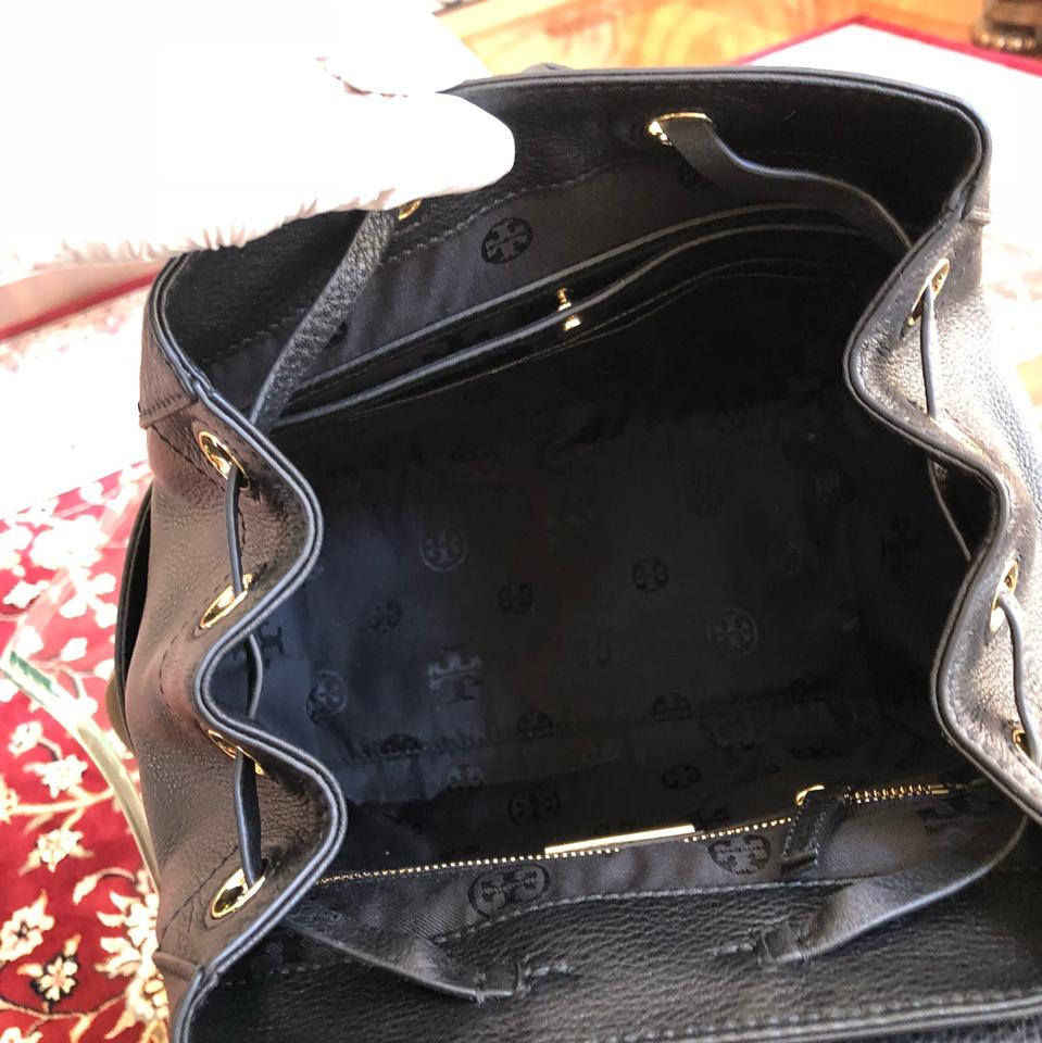 Tory Whipstitch Burch Mini Leather Logo Backpack Black aaBrw4xq6