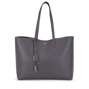 Saint Laurent Ysl Leather Neverfull Tote in Dark Gray (Storm)