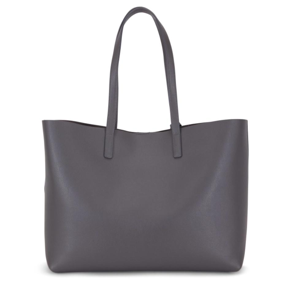 Laurent Large Dark Shopper Tote Leather Storm Saint Gray 6nzdq5xH