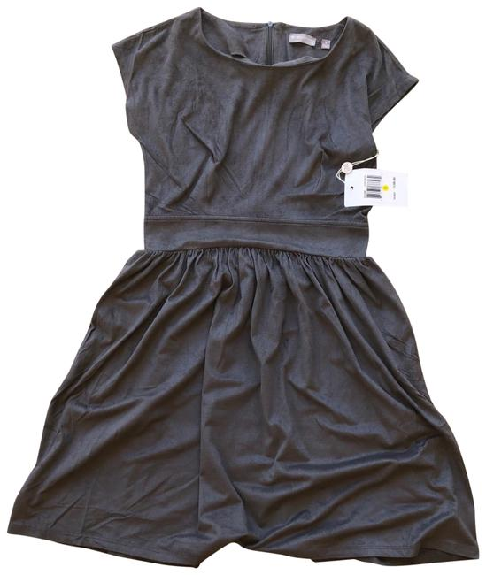 Item - Gray Babydoll Suede Short Cocktail Dress Size 4 (S)