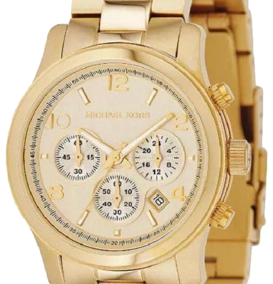 8c60a290e243 Michael Kors new Michael Kors Gold Runway Stainless Steel Chronograph  Ladies Watch - MK5055 Image 0 ...