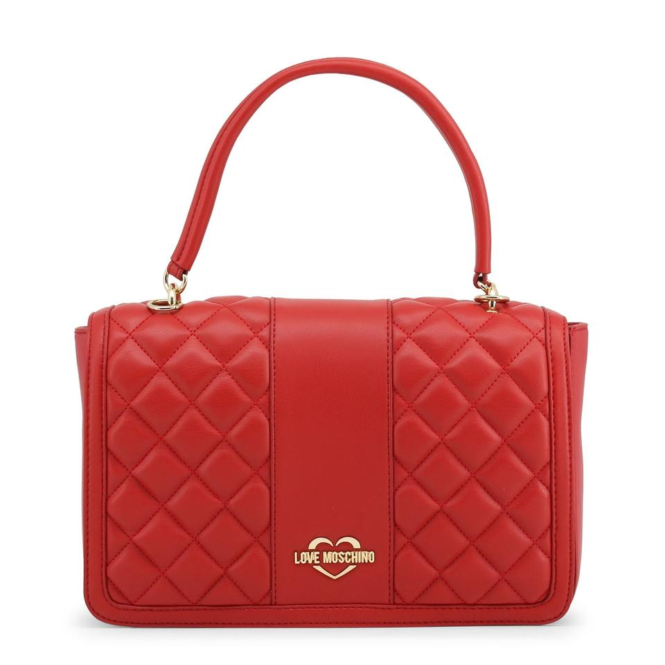 New Love Moschino Leather Synthetic Bag Red Shoulder 4xTw1q5Ax
