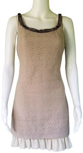 Graham & Spencer short dress Beige Lace Wool Blend Ruffle Mini on Tradesy