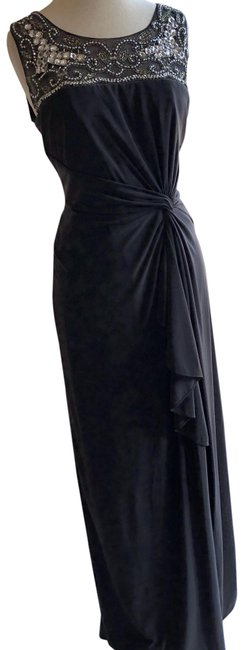 Patra Charcoal 13511 Long Formal Dress Size 12 (L) Patra Charcoal 13511 Long Formal Dress Size 12 (L) Image 1