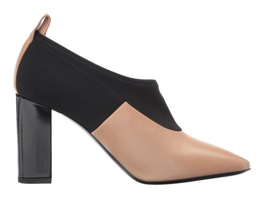Via Spiga Black Leather Stretch Ankle Nude Boots Image 1