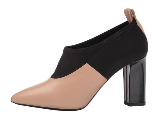 Via Spiga Black Leather Stretch Ankle Nude Boots Image 5