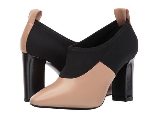 Via Spiga Black Leather Stretch Ankle Nude Boots Image 6