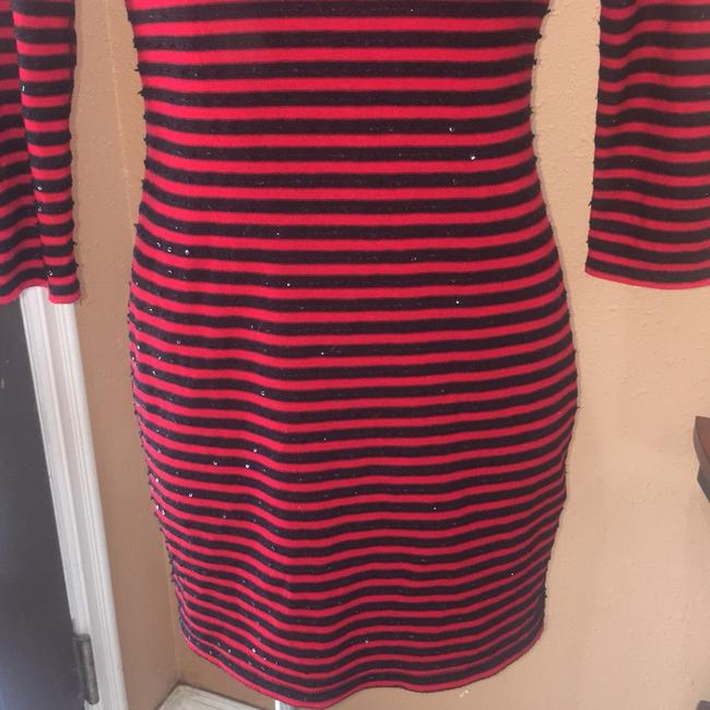 Express short dress red and black on Tradesy Image 2