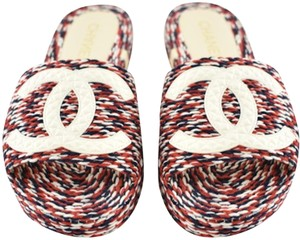 Chanel Red Blue White Sandals