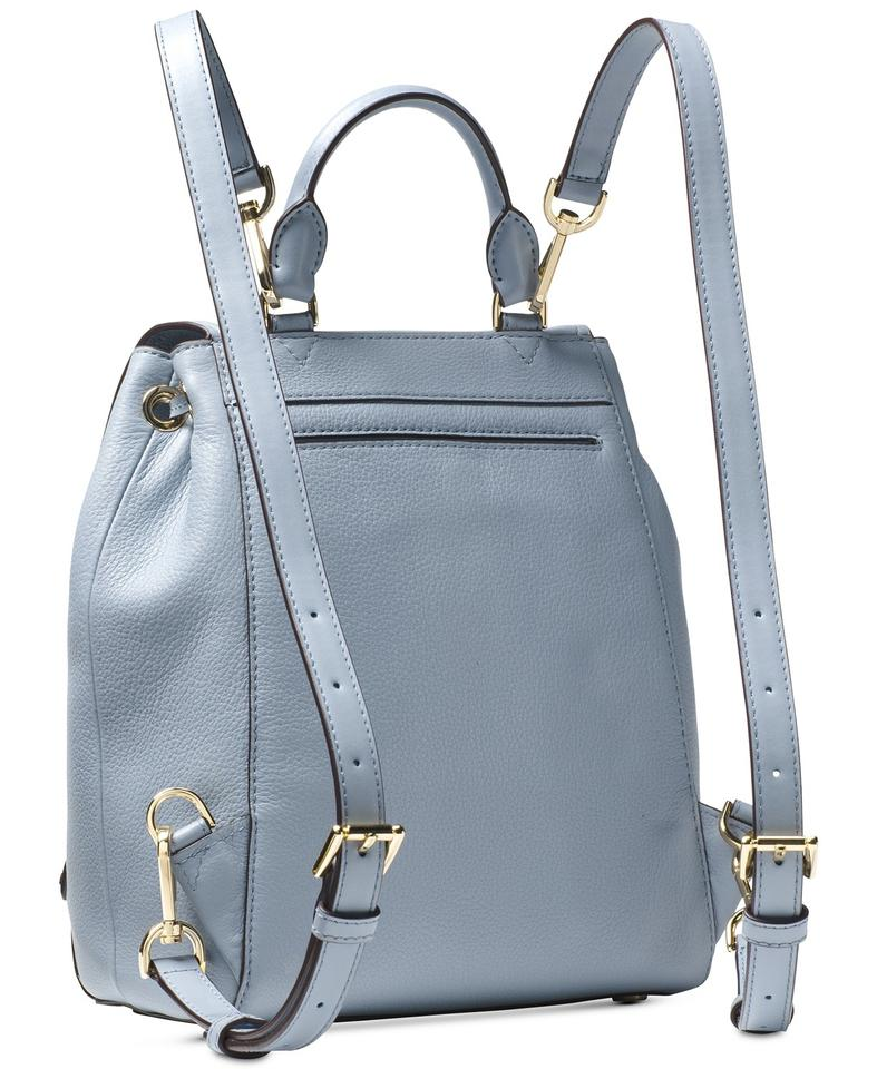 d01c25960eee30 Michael Kors Evie Small Flower Garden Pale Blue Leather Backpack ...