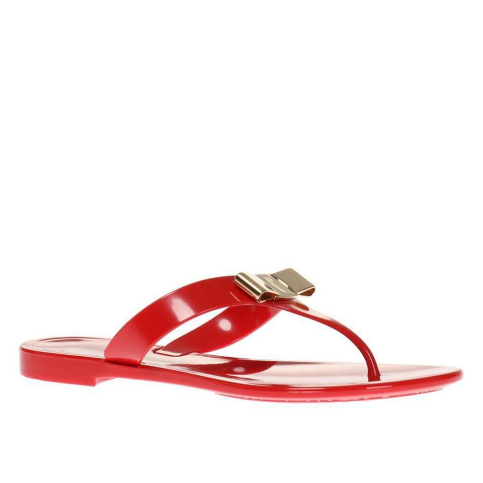 0089c25be63a Salvatore Ferragamo Red New Farelia Jelly C Sandals Size US 5 Wide ...
