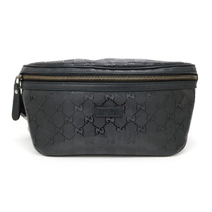923b5e24cd58 Gucci Black Monogram Gg Supreme Belt Bag/Waist Pouch - Tradesy