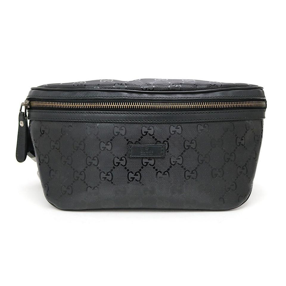 602d93e7be57 Gucci Black Monogram GG Supreme Belt Bag/Waist Pouch Image 0 ...